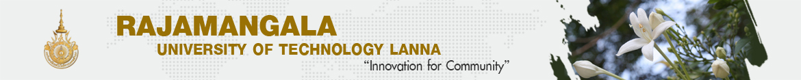 Website logo Dr. Passawat presented the result of Fund FLR349 | Office Policy and Planning Rajamangala University of Technology Lanna